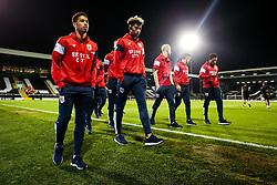 Zak Vyner and Lloyd Kelly of Bristol City check out the pitch - Rogan/JMP - 31/10/2017 - Craven Cottage - London, England - Fulham FC v Bristol City - Sky Bet Championship.