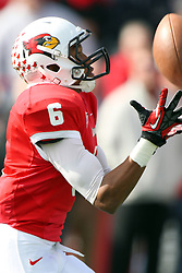 20 October 2012:  Donovan Harden during an NCAA Missouri Valley Football Conference football game between the Missouri State Bears and the Illinois State Redbirds at Hancock Stadium in Normal IL