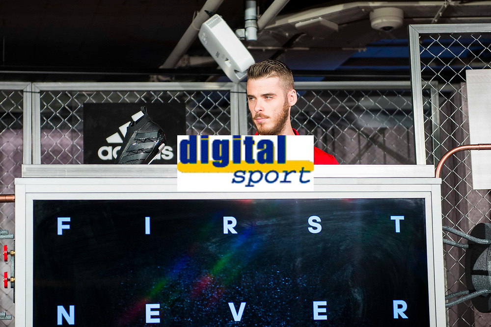 De Gea during the opening of the corner of the Spanish team in its new Adidas Store Gran Vía in Madrid. June 05 2016. (ALTERPHOTOS/Borja B.Hojas)