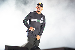 August 26, 2017 - Reading, Berkshire, UK - Reading Festival 2017, Reading, UK. Major Lazer perform on the main stage. Walshy Fire pictured  (Credit Image: © Andy Sturmey/London News Pictures via ZUMA Wire)