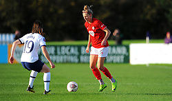 Yana Daniels of Bristol City tries to get past Lucy Quinn of Tottenham Hotspur Women- Mandatory by-line: Nizaam Jones/JMP - 27/10/2019 - FOOTBALL - Stoke Gifford Stadium - Bristol, England - Bristol City Women v Tottenham Hotspur Women - Barclays FA Women's Super League