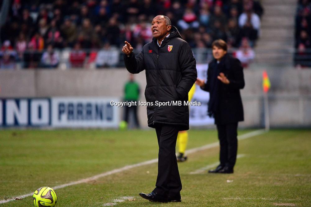 Antoine KOMBOUARE / Jean Luc VASSEUR - 25.01.2015 - Reims / Lens  - 22eme journee de Ligue1<br />Photo : Dave Winter / Icon Sport