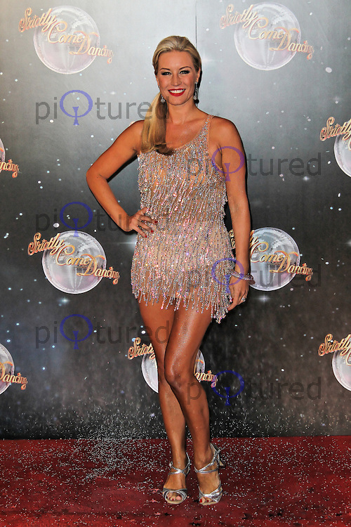 LONDON - SEPTEMBER 11: Denise Van Outen attended the Strictly Come Dancing Launch at the BBC Television Centre, London, UK. September 11, 2012. (Photo by Richard Goldschmidt)