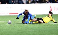 Fotball ,  OBOS-Ligaen<br /> 07.04.19<br /> Nammo Stadion<br /> Raufoss v Sandefjord  0-2<br /> Foto :  Dagfinn Limoseth , Digitalsport<br /> Lars Pontus Engblom , Sandefjord felles .
