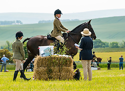 Pictured: Haddington Show. East Fortune, East Lothian, Scotland, United Kingdom, 29 June 2019. Haddington Show has taken place annually since 1804, held by the United East Lothian Agricultural Society. Traditional events include horse, sheep and pedigree cattle judging, show jumping, pig racing, a display of vintage agricultural machinery, a daredevil motorbike stunt team, and the 'Drakes of Hazard' - a collie dog rounding up Indian Runner ducks.<br /> <br /> Sally Anderson   EdinburghElitemedia.co.uk