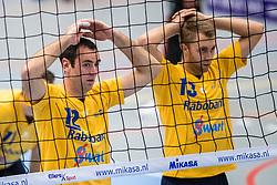 21-10-2017 NED: SV Taurus - Zaanstad, Houten<br /> Zaanstad verliest met 3-0 van Taurus / Erwin Huinen #12 of Zaanstad, Lars de Boer #13 of Zaanstad