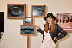 Charlotte Colbert at a preview of the 'From Selfie To Self-Expression' exhibition at The Saatchi Gallery, Duke Of York's HQ, King's Road, London, England. 30 March 2017.