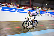 Pim Ligthart tijdens een koppelkoers. In Amsterdam vindt de Zesdaagse van Amsterdam plaats, een groots wielerevenement in het velodrome.<br /> <br /> Pim Ligthart at the Six Days of Amsterdam, a major cycling event in the velodrome.
