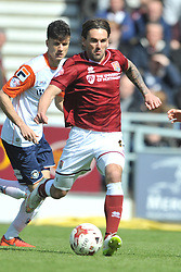 RICKY HOLMES NORTHAMPTON  TOWN Northampton Town v Luton Town, Sky Bet League 2,  Six Fields Stadium Northampton Crowned Division Two Champions Saturday 30th April 2016. (Score 2-1)Photo: Mike Capps