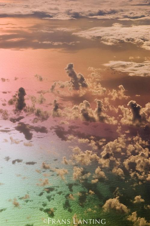 Clouds over ocean, Pacific Ocean