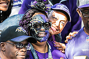 Baltimore Ravens fans during the International Series match between Baltimore Ravens and Jacksonville Jaguars at Wembley Stadium, London, England on 24 September 2017. Photo by Jason Brown.