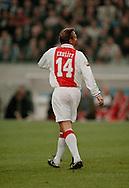 Photo:  Gerrit de Heus. Amsterdam. 06/04/99. Johan Cruijff playing with and against former Ajax-players. Keywords: Cruyff, veertien