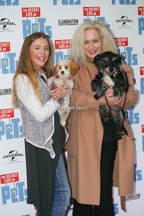London, England,UK. 12th Nov 2016: Debbie Douglas attend the UK 'Petmiere' of The Secret Life of Pets to mark the Blu-ray and DVD release on Monday November 14th 2016 at Prince Charles Cinema, Soho,London,UK. Photo by See Li