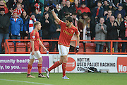 Nottingham Forest striker Nelson Castro Oliveira celebrates goal during the Sky Bet Championship match between Nottingham Forest and Bolton Wanderers at the City Ground, Nottingham, England on 16 January 2016. Photo by Alan Franklin.