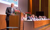 UTRECHT- KNHB voorzitter Jan Albers. Algemene Ledenvergadering  KNHB bij de Rabobank in Utrecht. Voorzitter Jan Albers wordt opgevolgd door Erik Cornelissen. COPYRIGHT KOEN SUYK