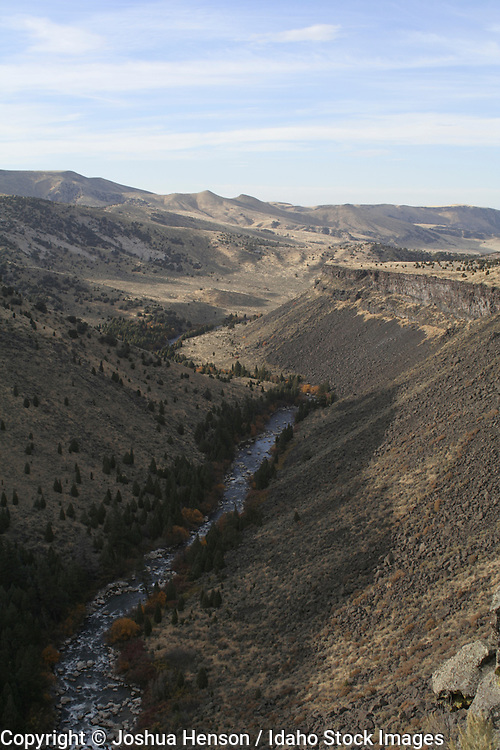 Idaho. Bingham County. Evening above the Blackfoot River in autumn.