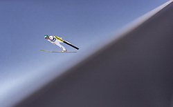 28.02.2019, Seefeld, AUT, FIS Weltmeisterschaften Ski Nordisch, Seefeld 2019, Skisprung, Herren, Qualifikation, im Bild Michael Hayboeck (AUT) // Michael Hayboeck of Austria during his Qualification Jump of men's Skijumping of FIS Nordic Ski World Championships 2019. Seefeld, Austria on 2019/02/28. EXPA Pictures © 2019, PhotoCredit: EXPA/ JFK