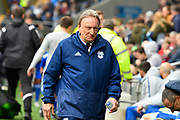 Cardiff City manager Neil Warnock during the Premier League match between Cardiff City and Chelsea at the Cardiff City Stadium, Cardiff, Wales on 31 March 2019.