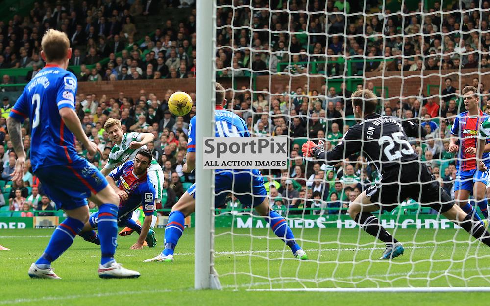 Celtic's Stuart Armstrong score the third goal during the Glasgow Celtic FC v Inverness Caledonian Thistle FC Scottish Premiership 15th August 2015 ©Edward Linton | SportPix.org.uk