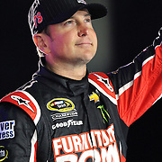 NASCAR Sprint Cup driver Kurt Busch (78) is seen during the driver introductions prior to the NASCAR Sprint Unlimited Race at Daytona International Speedway on Saturday, February 16, 2013 in Daytona Beach, Florida.  (AP Photo/Alex Menendez)