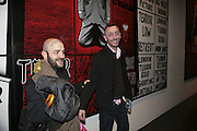 Frankie B and Kamal, Gilbert and George Major Exhibition. Tate Modern. Afterwards dinner at Christchurch Spitafields. London. 13 February 2007.  -DO NOT ARCHIVE-© Copyright Photograph by Dafydd Jones. 248 Clapham Rd. London SW9 0PZ. Tel 0207 820 0771. www.dafjones.com.