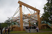 THE FRANK GEHRY PAVILION. Frank Gehry Serpentine Pavilion opening event: Serpentine Gallery, Kensington Gardens. London. 18 July 2008 *** Local Caption *** -DO NOT ARCHIVE-© Copyright Photograph by Dafydd Jones. 248 Clapham Rd. London SW9 0PZ. Tel 0207 820 0771. www.dafjones.com.