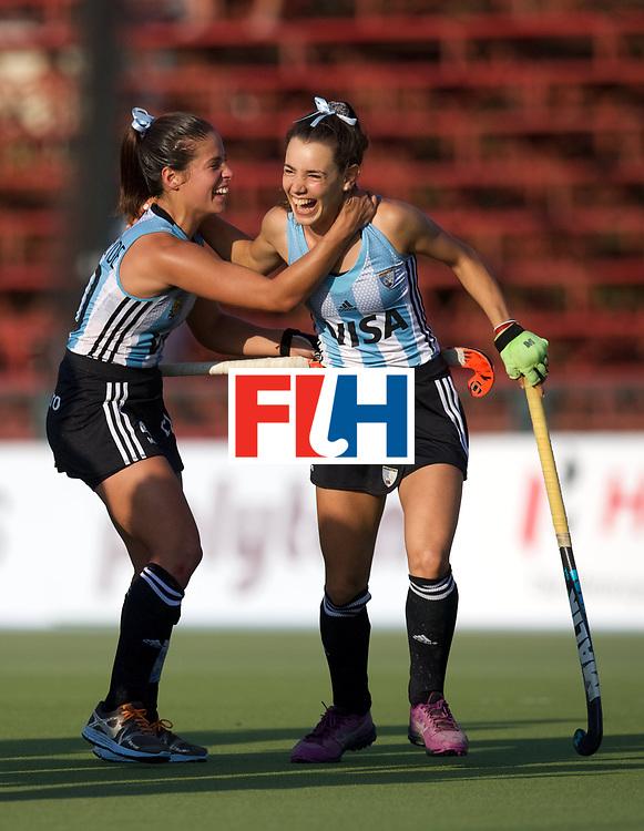 SANTIAGO - 2016 8th Women's Hockey Junior World Cup<br /> ARG v USA (QF)<br /> foto: Guadalupe Fernandez <br /> FFU PRESS AGENCY COPYRIGHT FRANK UIJLENBROEK
