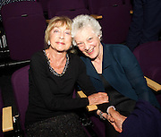 DAME GILLIAN LYNNE with  Dame Monica Mason <br /> <br /> Dance UK Conference opening event at The Place, London, Great Britain <br /> 9th April 2015 <br /> <br /> THE UK'S FIRST-EVER INDUSTRY-WIDE DANCE CONFERENCE 9-12 APRIL, HOSTED BY DANCE UK. <br /> THE FUTURE: NEW IDEAS, NEW INSPIRATIONS OPENS AT THE PLACE <br /> KEYNOTE SPEAKERS DAME GILLIAN LYNNE, SIR KEN ROBINSON AND SIR PETER BAZALGETTE, COMPARED BY ARLENE PHILLLIPS CBE AND ASHLEY BANJO. <br /> OPENING CELEBRATION PERFORMERS INCLUDE BBC STRICTLY COME DANCING'S ROBIN WINDSOR & KRISTINA RIHANOFF, NATIONAL DANCE COMPANY OF WALES, TENIESHA BONNER AND VERVE (Graduate Company of Northern School of Contemporary Dance). <br /> <br /> Photograph by Elliott Franks<br /> <br /> <br /> Dance UK Conference opening event at The Place, London, Great Britain <br /> 9th April 2015 <br /> <br /> THE UK'S FIRST-EVER INDUSTRY-WIDE DANCE CONFERENCE 9-12 APRIL, HOSTED BY DANCE UK. <br /> THE FUTURE: NEW IDEAS, NEW INSPIRATIONS OPENS AT THE PLACE <br /> KEYNOTE SPEAKERS DAME GILLIAN LYNNE, SIR KEN ROBINSON AND SIR PETER BAZALGETTE, COMPARED BY ARLENE PHILLLIPS CBE AND ASHLEY BANJO. <br /> OPENING CELEBRATION PERFORMERS INCLUDE BBC STRICTLY COME DANCING'S ROBIN WINDSOR & KRISTINA RIHANOFF, NATIONAL DANCE COMPANY OF WALES, TENIESHA BONNER AND VERVE (Graduate Company of Northern School of Contemporary Dance). <br /> <br /> Photograph by Elliott Franks