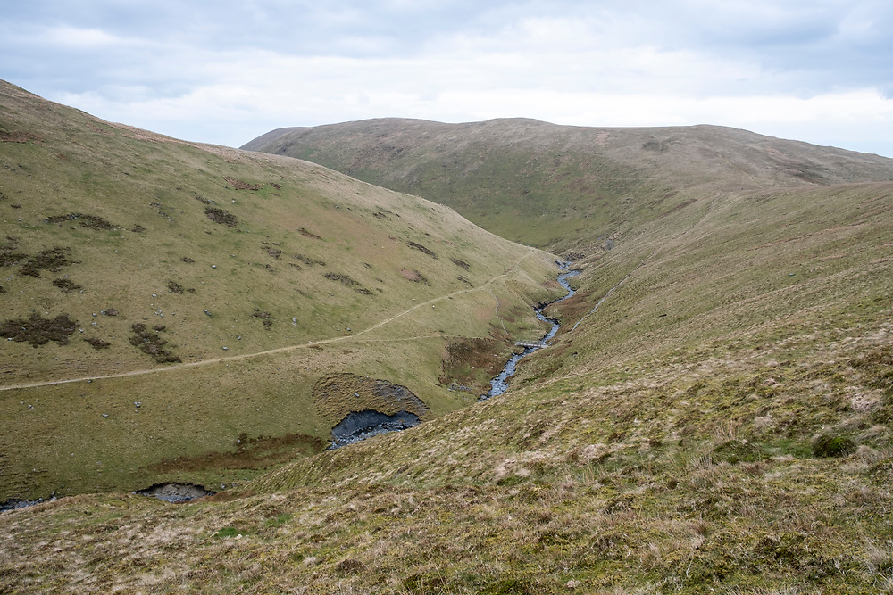 Scales Beck flowing stream with drains water from Scales Tarn on the east side of Blencathra into the River Glenderamackin at the valley bottom, Lake District, Cumbria, UK.   (photo by Andrew Aitchison / In pictures via Getty Images)