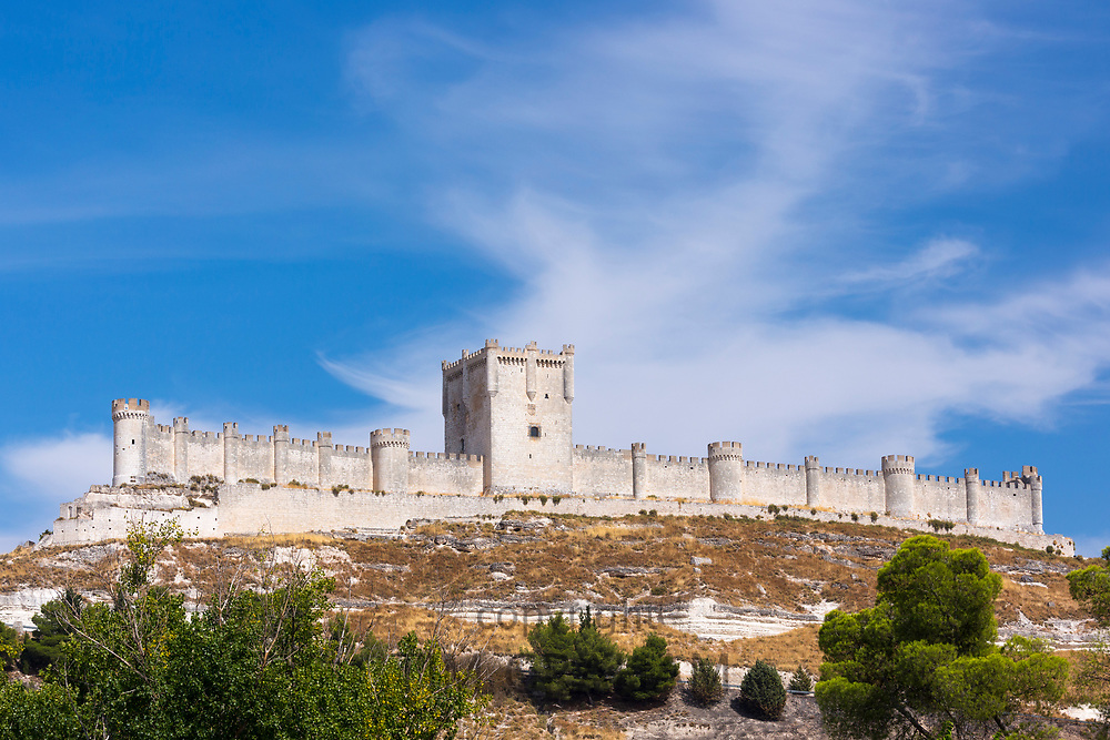 Penafiel Castle in Penafiel, Valladolid Province, Spain