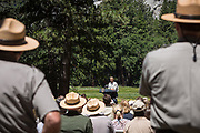 Saturday, June 18, 2016<br /> PRESIDENT OBAMA delivers brief remarks at the Sentinel Bridge Parking Lot at Cook's Meadow in Yosemite National Park, California.<br /> <br /> As America celebrates the 100th anniversary of the creation of our national park system this year, the President and the First Family traveled to Carlsbad Caverns National Park in New Mexico and Yosemite National Park in California.