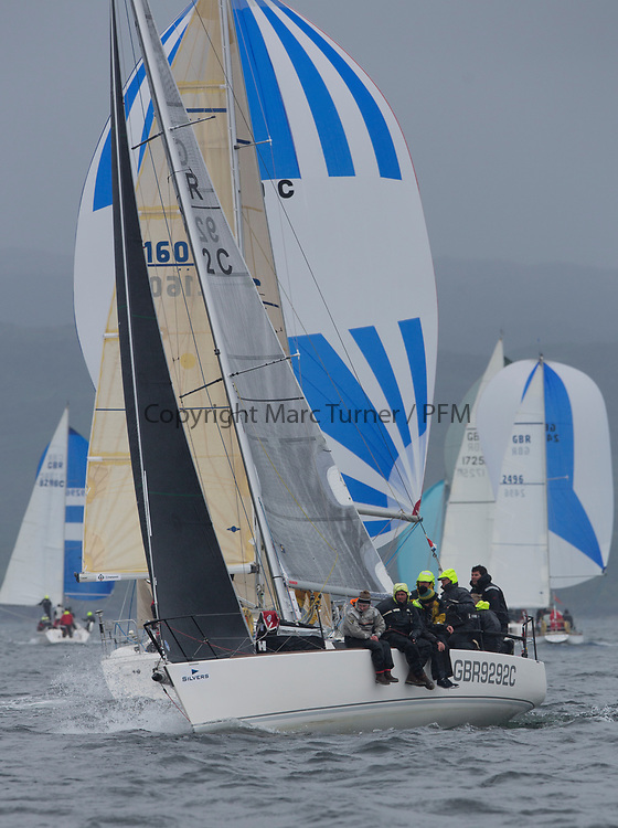 Silvers Marine Scottish Series 2017<br /> Tarbert Loch Fyne - Sailing<br /> <br /> GBR9292C, Samurai J, Alan Macleod/A Knowles, Cove SC / CCC, J92<br /> <br /> Credit: Marc Turner / CCC