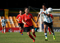 International Women's Friendly Matchs 2019 / <br /> Cup of Nations Tournament 2019 - <br /> Argentina vs South Korea 0-5 ( Leichhardt Oval Stadium - Sidney,Australia ) - <br /> Florencia Soledad Jaimes of Argentina (R) ,challenges with Jang Sel-Gi of South Korea (L)