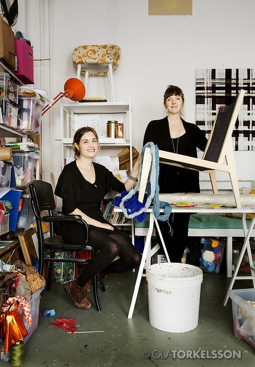 Butler &amp; Lindg&aring;rd, textile designers.<br /> Photo by Ola Torkelsson &copy;<br /> Copyright Ola Torkelsson