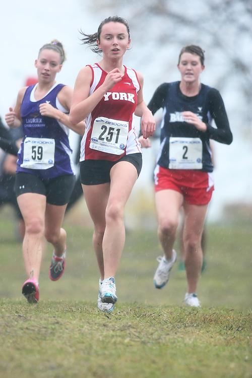 (Kingston, ON---25 October 2008) Iana Kotliarova of YORKuniversity running to finish 89 in the 2008 Ontario University Athletics women's cross country championship.  Photograph copyright Sean Burges/Mundo Sport Images (www.msievents.com).