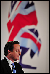 The Prime Minister David Cameron during his speech at the Conservative Spring Conference, London, Saturday March 16, 2013. Photo By Andrew Parsons / i-Images
