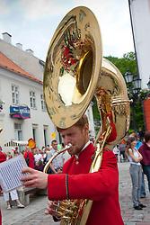 Man with Tuba, Tartu Town Hall Square, Estonia