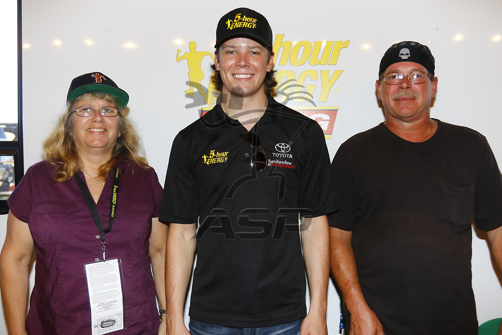 September 03, 2017 - Darlington, South Carolina, USA: Erik Jones (77) meets with guest before the Bojangles' Southern 500 at Darlington Raceway in Darlington, South Carolina.