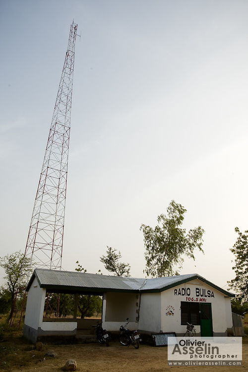 Rural radio station in Builsa, Ghana on Wednesday November 12, 2008.