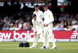 Joe Root of England looks on with the rest of his slip cordon - Mandatory by-line: Robbie Stephenson/JMP - 07/07/2017 - CRICKET - Lords - London, United Kingdom - England v South Africa - Investec Test Series