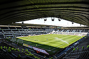 Derby County's ground ahead of the Sky Bet Championship match between Derby County and Sheffield Wednesday at the iPro Stadium, Derby, England on 23 April 2016. Photo by Jon Hobley.