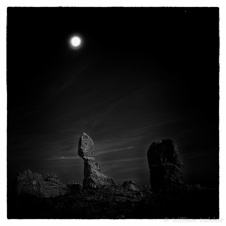Arches Moonrise over Balanced Rock
