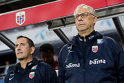 September 6, 2018 - Oslo, NORWAY - 180906 Per Joar Hansen, assistant coach of Norway, and Lars Lagerbäck, head coach of Norway, ahead of the Nations League match between Norway and Cyprus on September 6, 2018 in Oslo..Photo: Jon Olav Nesvold / BILDBYRÃ…N / kod JE / 160308 (Credit Image: © Jon Olav Nesvold/Bildbyran via ZUMA Press)