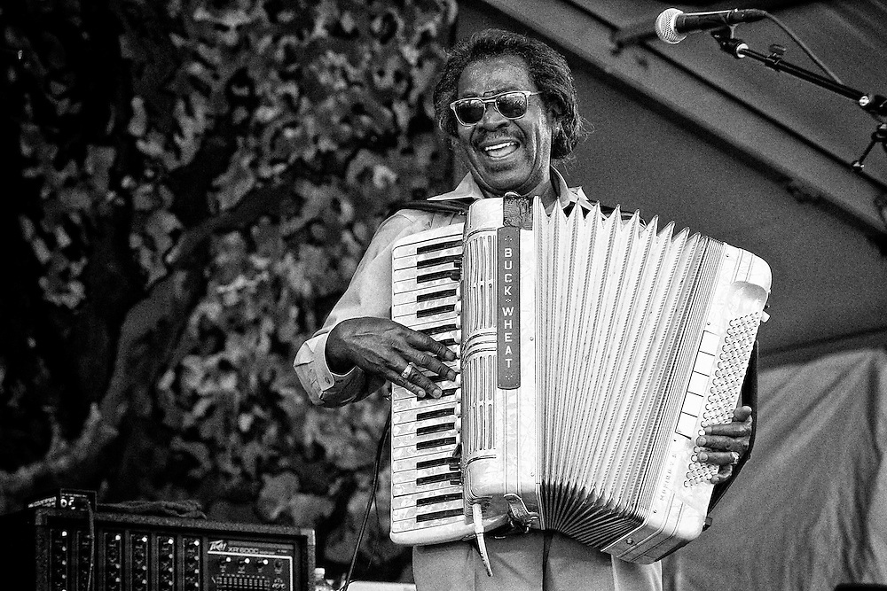 Buckwheat Zydeco performing on the Gentilly Stage at the 2011 New Orleans Jazz & Heritage Festival at the Fair Grounds Race Course in New Orleans, LA. USA.