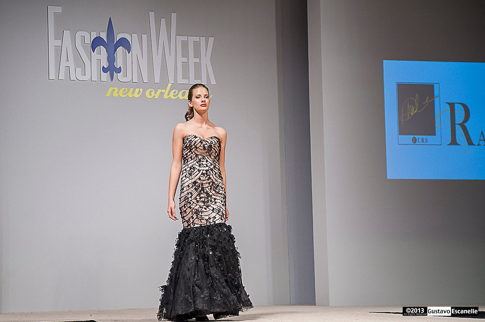 Raffaele Furs showing their collection at Fashion Week New Orleans.