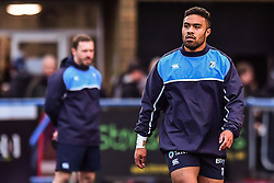 Cardiff Blues' Willis Halaholo during the pre match warm up - Mandatory by-line: Craig Thomas/Replay images - 31/12/2017 - RUGBY - Cardiff Arms Park - Cardiff , Wales - Blues v Scarlets - Guinness Pro 14