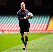 Liam Williams of Wales<br /> <br /> Photographer Simon King/Replay Images<br /> <br /> Six Nations Round 3 - Captains Run - Wales v England - Saturday 22nd February 2019 - Principality Stadium - Cardiff<br /> <br /> World Copyright © Replay Images . All rights reserved. info@replayimages.co.uk - http://replayimages.co.uk