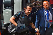 Everton manager Marco Silva gets off the team bus on arrival at the Vitality Stadium ahead of the Premier League match between Bournemouth and Everton at the Vitality Stadium, Bournemouth, England on 15 September 2019.