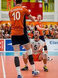 25-09-2016 NED: EK Kwalificatie Nederland - Turkije, Koog aan de Zaan<br /> Nederland plaatst zich voor het EK in Polen door Turkije met 3-1 te verslaan / Dirk Sparidans #5, Jeroen Rauwerdink #10