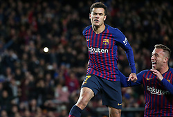 January 30, 2019 - Barcelona, Spain - Philippe Coutinho goal celebration during the match between FC Barcelona and Sevilla FC, corresponding to the secong leg of the 1/4 final of the spanish cup, played at the Camp Nou Stadium, on 30th January 2019, in Barcelona, Spain. Photo: Joan Valls/Urbanandsport /NurPhoto. (Credit Image: © Joan Valls/NurPhoto via ZUMA Press)